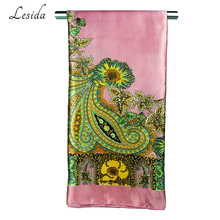Polyester Square Scarf Women Paisley Printed Bandana Wrap Red Vintage Neck Scarves Shawls Hijab Sjaal 90*90CM 9016