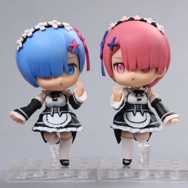 Re Zero kara Hajimeru Isekai Seikatsu Natsuki Subaru Re Life a Different World from Zero Rem Ram Action Figure Nendoroid Toys anime re zero kara hajimeru isekai seikatsu rem white pu short zero wallet coin purse with interior zipper pocket