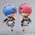 Volver a Cero Isekai kara Hajimeru Natsuki Subaru Seikatsu Vida Nueva un Mundo Distinto de Cero Rem Ram Nendoroid Figura de Acción juguetes