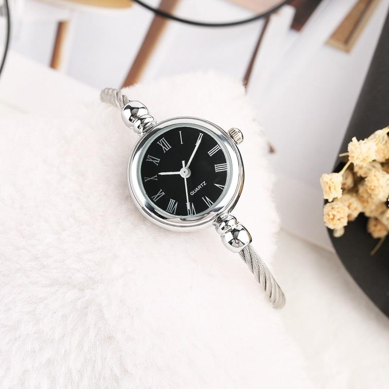 Unique Women Bracelet Watch Little Smooth Dial Top Luxury Silver Slim Strap Korean Retro Art Female Clock Quartz Watch Gift Hour 2018 2019 (9)