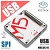 M5storm وحدة USB جديدة USB المضيف/HID مع إخراج واجهة MAX3421E SPI * 5 المدخلات * 5 متوافق مع m5storm ESP32 طقم تكويم