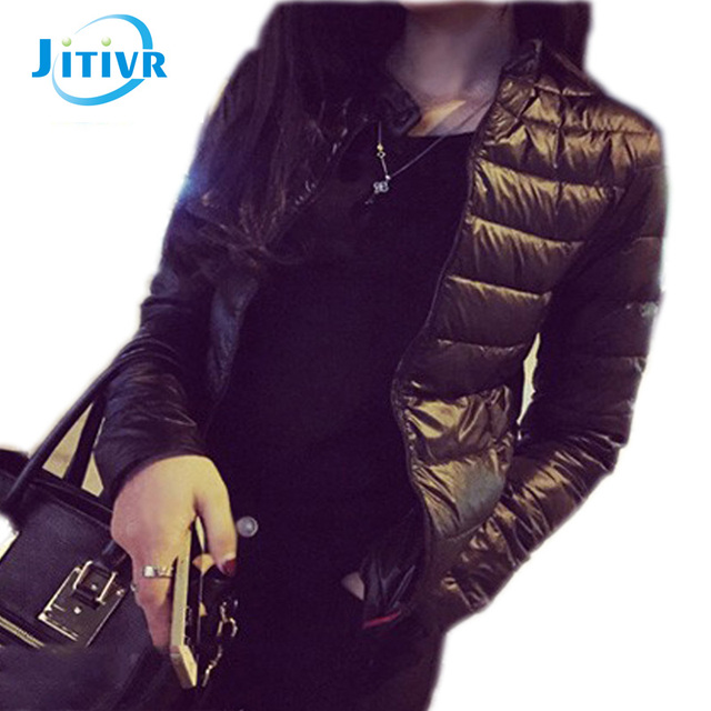2017 Winter & Primavera Mulheres Jaqueta Curta Para Baixo Outwear Feminino Casaco de inverno de Algodão Acolchoado Casaco Quente Outwear Mulheres Inverno Para Baixo casaco