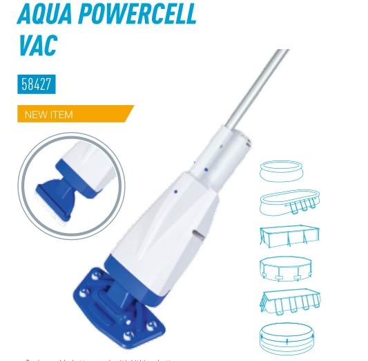 58427 Bestway Aqua Powercell Vac Cleaner For SPAs & AGP Totally Submersible Body Vacuum Debris On Pool/Spa Floor To Clean Water