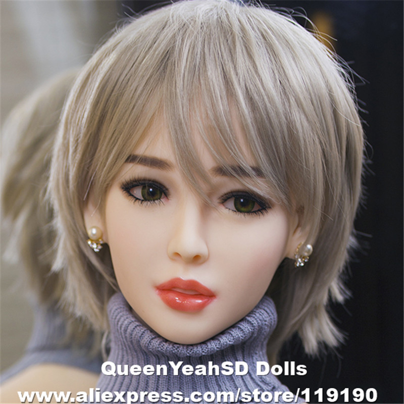 NEW Oral <font><b>Sex</b></font> <font><b>Doll</b></font> Head Solid Silicone Love <font><b>Doll</b></font> Heads For Men Oral Depth 13cm TPE <font><b>Dolls</b></font> Head Fit Body from 140cm to 170cm image