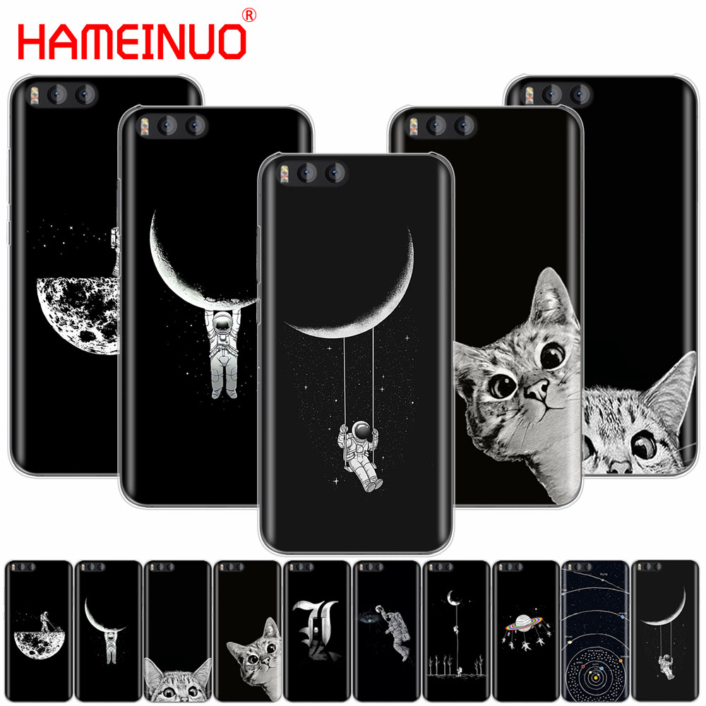 Capable Hameinuo Space Moon Cute Cats Black Cover Case For Xiaomi Mi 3 4 5 5s 5c 5x 6 Mi3 Mi4 4i 4c Mi5 Mi6 Note Max 2 Mix Plus Preventing Hairs From Graying And Helpful To Retain Complexion Cellphones & Telecommunications Half-wrapped Case