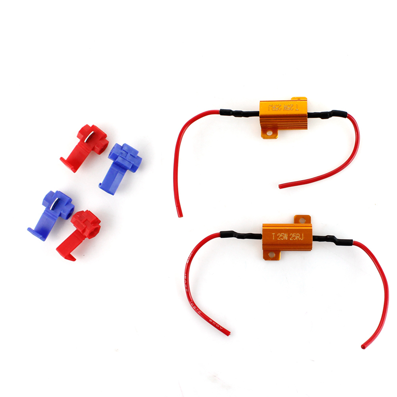 Automobiles & Motorcycles 2x25w 25ohm Car Universal Canbus Load Resistor Protector For Led Turn Signal Light Fix Error Fast Flash 7443 Wy21w W21w 7440 Consumers First Car Light Accessories