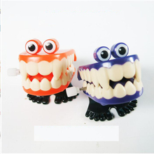 iWish 45mm Halloween Wind Up On The Chain Jump Ghost Teeth Jumping Tooth Gift Dental Model Toy For Children Toys All Saints' Day halloween chain clockwork toy ghost frankenstein vampire capsule funny joke prank wind up jumping walking toys kid gifts jm305