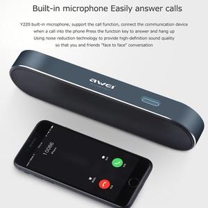 Image 5 - AWEI Y220 Portable Bluetooth haut parleur Hi Fi extérieur sans fil haut parleurs système de son 3D stéréo basse AUX musique Surround haut parleur