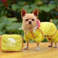 XS-XXL Köpek Yağmurluk 2016 Yeni Pet Giyim Köpek Giyim Dört Bacaklar Yağışlı Sezon Favor Evcil Mont Rainwear Moda Tasarım