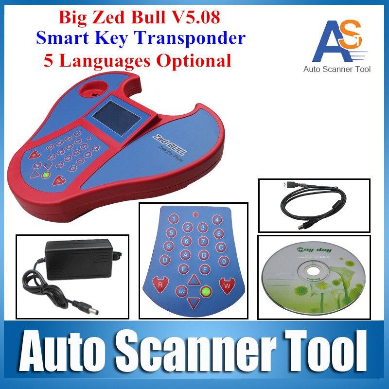 High Quality Big Zed Bull Key Programmer SW V508 HW V5.02 Zed-bull Car Clone Key Transponder Zedbull FOR Car-Detector