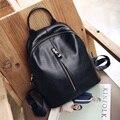 fashion women leather backpack travel school bags for teenagers ladies rucksack casual woman knapsack feminine backpacks 1S734