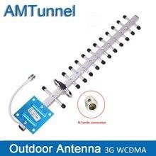 Antena Yagi 3G WCDMA 18dbi antena zewnętrzna 3G antena wzmacniająca z n żeńskim dla mobilny wzmacniacz sygnału telefon komórkowy wzmacniacz