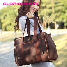 2016 New Arrival Quality Sturdy Pet Carrier Bag Dog Travel Bag for Small Dogs/Cat Casual Oxford Dog Handbag Brown&Black S M L