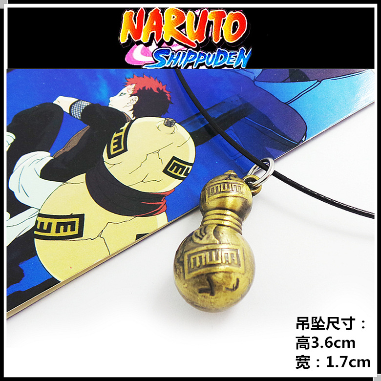 Sabaku no Gaara Calabash Pendant Necklace Halloween Christmas New Year Kid Gift Anime Naruto Cosplay Accessories