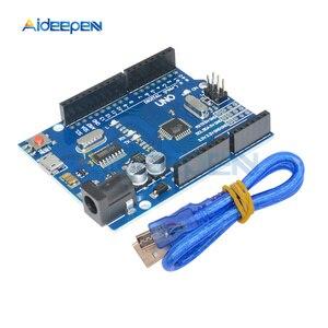 Image 4 - Placa de desarrollo UNO R3, ATMEGA328P 16AU, CH340, CH340G, Micro/Mini/tipo B, USB con Cable USB para Arduino UNO R3