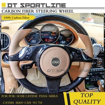 Porsche Cayenne 957 Panemera 970 911 Cayman Için 2011-2014 Karbon Fiber Direksiyon Karbon Aksesuar özelleştirilmiş