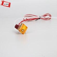 3PCS/lots MK8 Extruder Hot End Kit 3D printer part Nozzle 0.2/0.3/0.4/0.5mm for 1.75mm/3mm Filament for 3D printer part