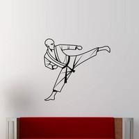 Hot Koop Gym Karate Muurstickers Home Decor Vinyl Verwijderbare Muurstickers Man Portret Stickers
