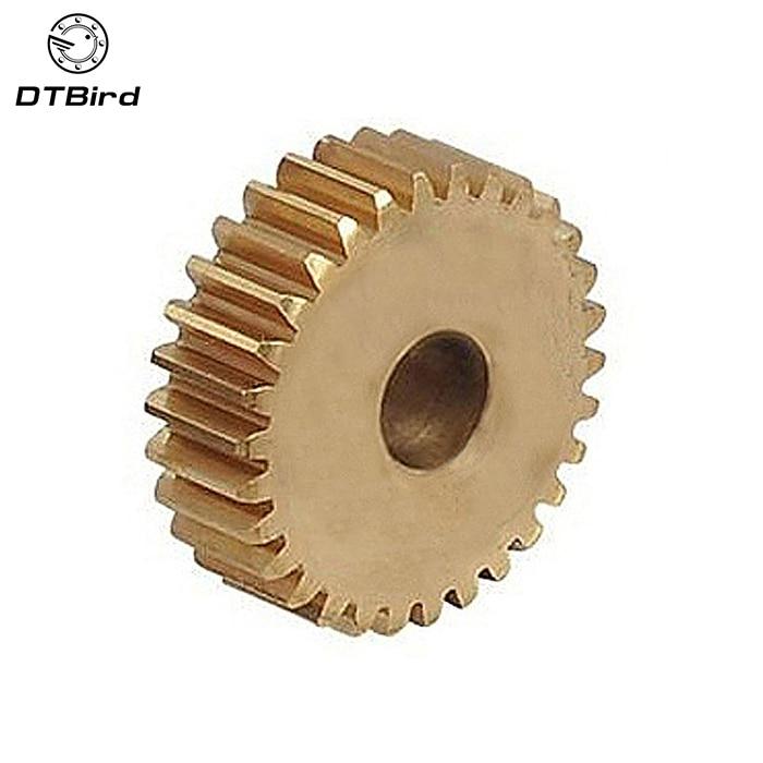 2pcs/lot 0.6M 30 31 32 33 34 35 36 37 38 39 Teeth(hole=9/10/11/12/13/14/15mm) Small Brass Plane gear machining parts