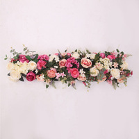 1PCS 1M/39.37INCH artificial flowers row road cited wedding decor flower wall arched door Window T station Christmas fake flower