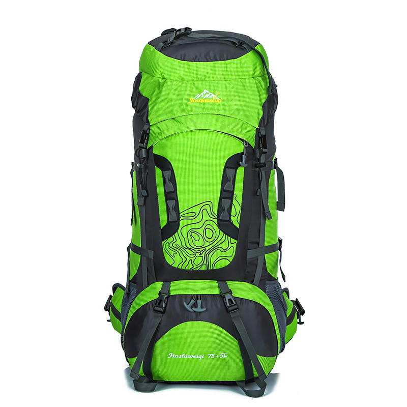 80L Outdoor Backpack Unisex Travel Multi-purpose Climbing Hiking backpack Large Capacity Mountaineer Rucksack camping sports bag 65l professional outdoor mountaineering bag camouflage bag large capacity multi function camping hiking backpack outdoor travel