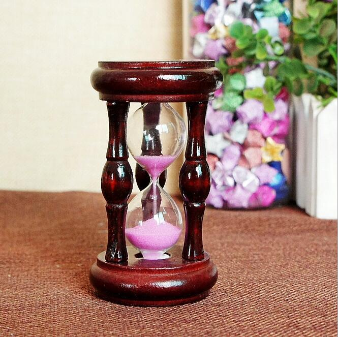 Wooden Sandglass Sand Hourglass Mahogany Hall Cabinet Room Timer Clock Xmas Birthday Home Decoration in Hourglasses from Home Garden