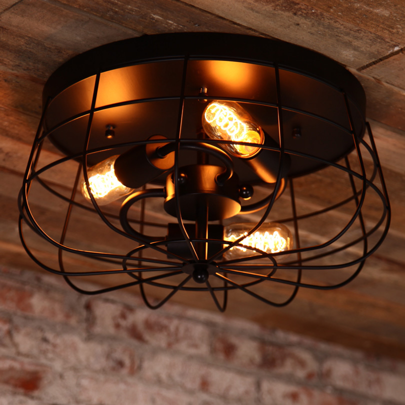Nostalgic American Fan Edison Bulb Balcony Vintage Ceiling Light Study / Restaurant Light Loft Style Bar Lights Free Shipping fashion american style room remote control oak electric fan ceiling lamp decorate in cafe restauest study room inn balcony bar