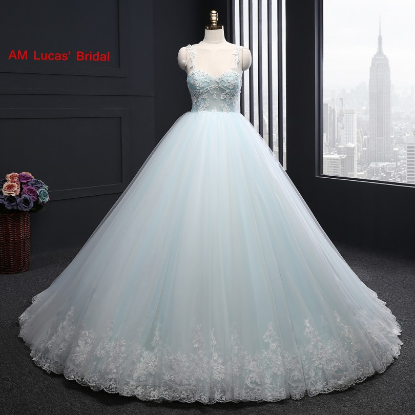 Long Ball Gown Wedding Dresses Appliques Off The Shoulder Tulle ...