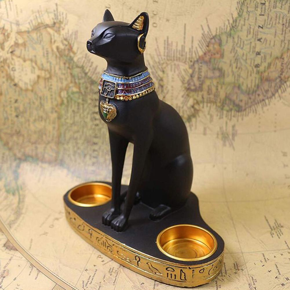 Egyptian Cat Ornament Candlestick…