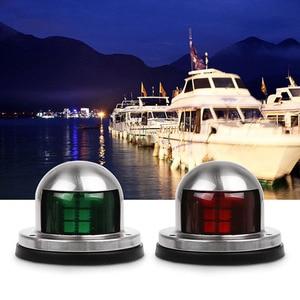 Image 5 - 1 çift Kırmızı Yeşil Liman Sancak Işık LED navigasyon ışığı 12 V tekne Yat