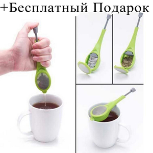 Tea Infuser Built in plunger Healthy Intense Flavor Reusable Tea bag Plastic Tea&Coffee Strainer Measure Swirl Steep Stir  G#|Tea Strainers| |  -
