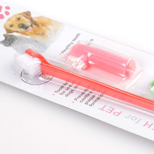 Double Head Soft Pet Finger Toothbrush for Dog and Cat