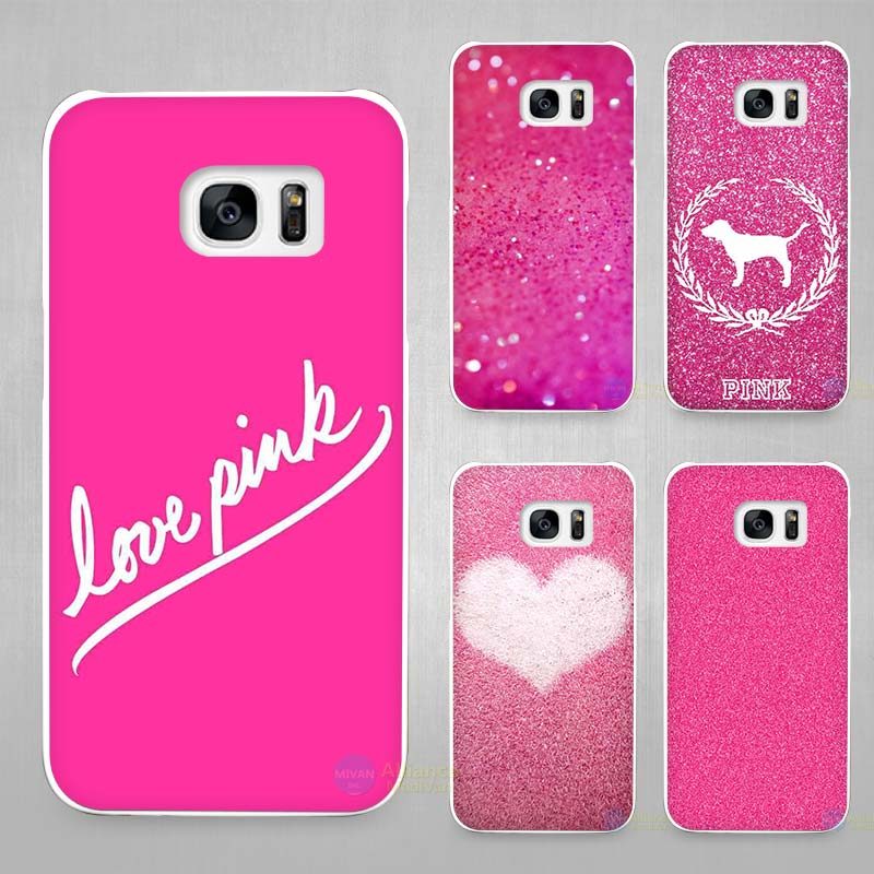 pink sugar glitter hard hard white coque shell case cover phone phone cases for samsung. Black Bedroom Furniture Sets. Home Design Ideas