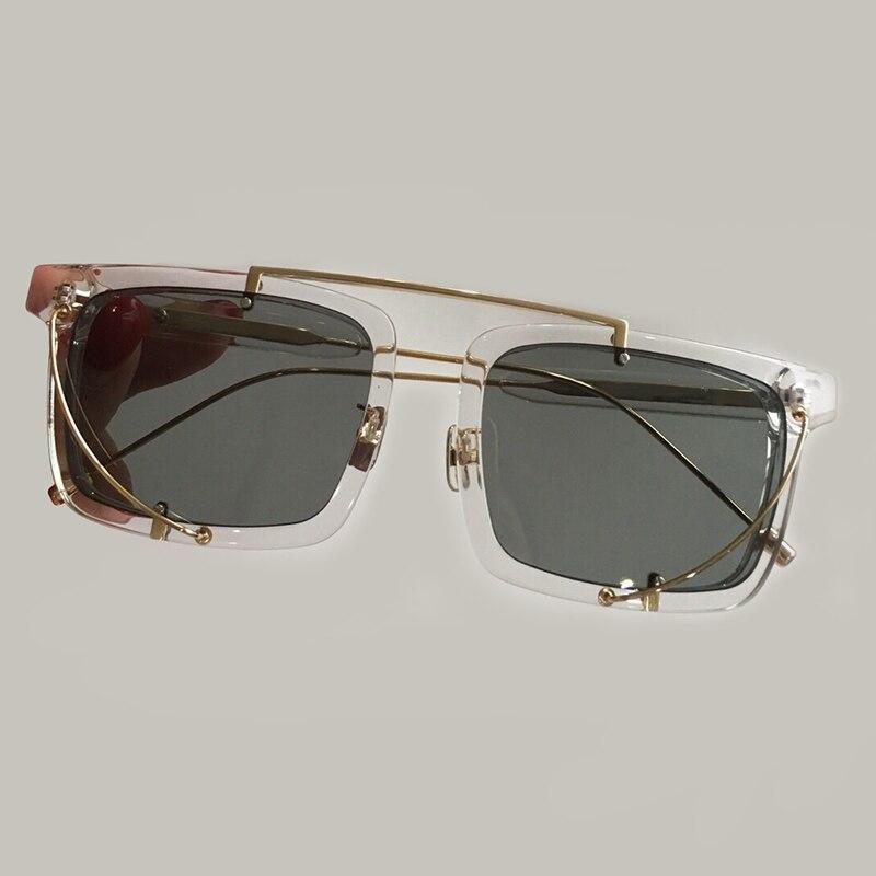 Sunglasses Gradienten Sunglasses Weiblichen Uv400 Acetat Sonnenbrille Rechteck 1 Rahmen 2 Verpackung Mix Objektiv Sunglasses 3 Mit 2018 Stil no Frauen Schatten No no Für Neue Sunglasses Legierung Brillen 4 no Box A0nwqO1x