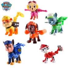 6 ชิ้น/เซ็ต Paw Patrol Patrulla Canina อะนิเมะ Action Figures puppy patrol รถของเล่น Patroling สุนัขของเล่นเด็ก