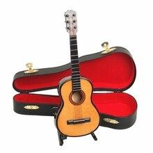 2016 Mini klassische gitarre modell dekoration mini musikinstrument modell gitarre box puppe dekoration requisiten