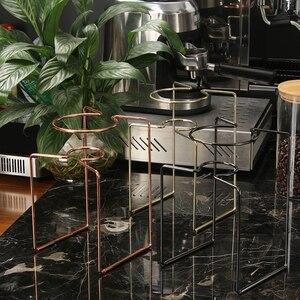 Image 5 - Filtros de café cafetera gotero geométrico, reutilizable vierta sobre el soporte de filtro de café, cesta de filtro permanente