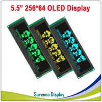 Real OLED Display, 5.5 256*64 25664 Graphic LCD Module Display Screen LCM Screen Build in SSD1322, 6080 8080 Parallel Seral SPI