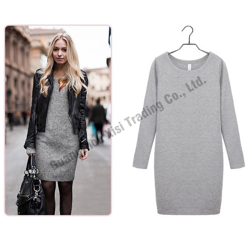 2016 fashionable womens dresses winter ladies work dresses women black dress long sleeve sexy club autumn winter dress