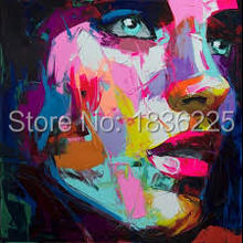 Nielly Francoise art work hand-painted oil wall moonlight face art women home decoration Modern Abstract oil painting on canvas
