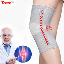 цена на 1 Pair Warm Elastic Breathable Knee Support Bamboo Fiber Health Care Knee Brace Spring Stay Knee Pads