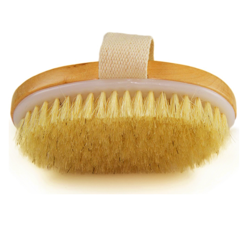 US $2 91 29% OFF|New Arrival Dry Skin Body Brush Natural Bristle Brush Soft  Handle Pouch Brush SPA Brush Dropshipping brosse de nettoyage Hot-in
