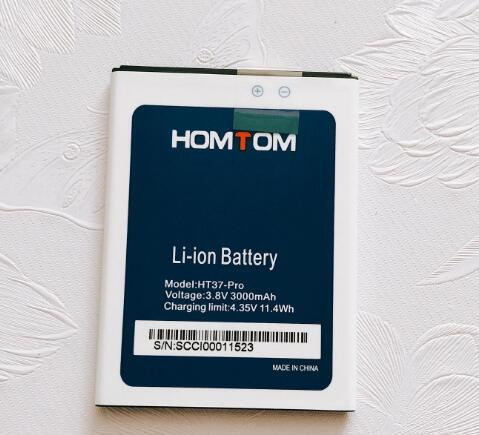 Original New HOMTOM HT37 HT37 Pro Battery Large Capacity Full 3000mAh Backup Batteries Replacement For HOMTOM HT37 Smart Phone