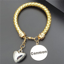 Stainless Steel Chains Bracelets for Women 3 Colors Bear Pendants Charm Bracelets & Bangles Jewelry Female Pulsera