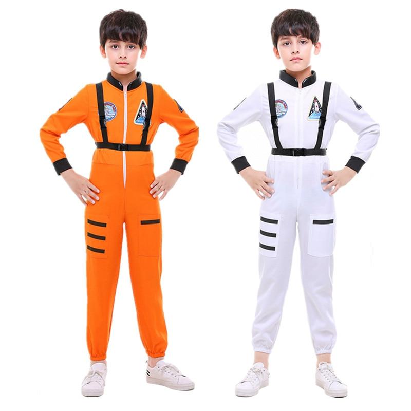 Children Halloween Aviator Pilot Costume Kids Boy Aviation Astronaut Cosplay uniform Role play Carnival Purim Party Dress