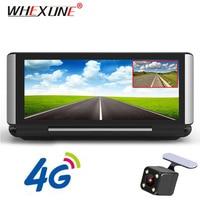 WHEXUNE 7 Inch 4G Car DVR Camera GPS FHD 1080P Android Dash Cam Navigation ADAS Car Video Recorder Dual Lens with Reverse image
