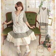 f5206a99ad51 Aggiungi alla Lista dei Desideri. Giappone coreano mori ragazza sweet  manica corta allentato plus size casual dress del cotone delle donne