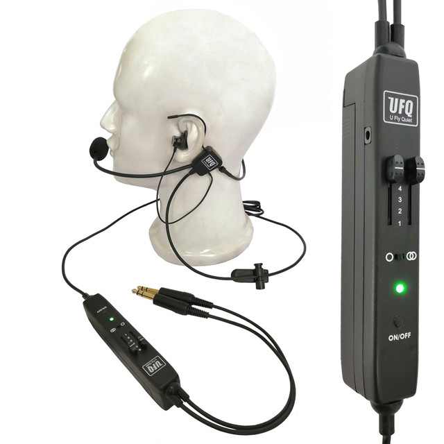 UFQ ANR L2 Hi Lite in Ear Aviation Headset Compare to XXXX Proxxxxxt only 175g Super Light Clear Communication Great Sound quali