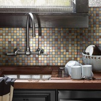 12 Inch Kitchen Tile Sticker For Wall Puzzle Peel and Stick Stove Walls Self Adhesive 3D Stickers Wall Decor for Room 4 Sheets