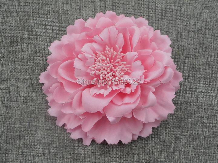 Bohemian Peony Hair Clip Hair Wedding Accessories Fabric Flower Brooch Pastel Pink Seaside Beach Headwear Women Head Ornaments